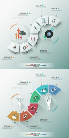 Modern Infographic Process (2 Items) Template #design Download: http://graphicriver.net/item/modern-infographic-process-template-2-items/9296679?ref=ksioks
