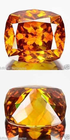Sphalerite 181106: 5.71 Cts Unheated Natural Sphalerite Sunset Orange Cushion Cut Spain (Video Avl) BUY IT NOW ONLY: $630.0