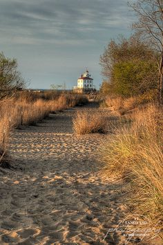 Headlands Beach State Park on Lake Erie, Ohio