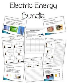 Lesson 12 Electric Circuits Worksheets Bundle