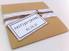 Pocketfold Hochzeit Einladung  Chevron Wrap  Kraft von Creationery, £1.30