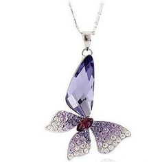 Crystal Butterfly Wing Drop Purple Crystal Pendant Necklace with 16' - 18 inch Chain TEJ http://www.amazon.com/dp/B00AM4ND4O/ref=cm_sw_r_pi_dp_8jPFub1KB9T7S