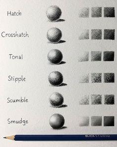 Pencil Shading Techniques by Taji Joseph - Bleistift-Scha Shading Drawing, Basic Drawing, Drawing Tips, Drawing Faces, Learn Drawing, Pencil Drawing Tutorials, Drawing Art, Drawing Ideas, Value Drawing