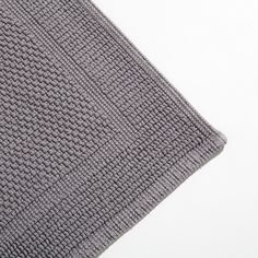 BASIC ASH GREY KNOTTED BATH MAT