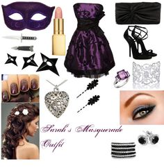 Sarahu0027s Chapter 24 Masquerade Outfit/ Gear  by sammi1616 ? liked on Polyvore.    sc 1 st  Pinterest & Simple Masquerade Outfit | Masquerade outfit Masquerades and Polyvore