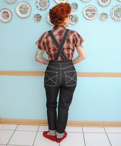 Overalls of my dreams | By Gum, By Golly #vintagesewing #jeans #overalls #1950s