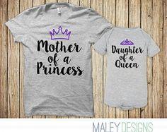 Madre hija juego camisas mamá y yo juego por CustomPrimePrints