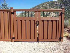 Trex Composite Fencing. Gate Cheap Wood Fencing, Garden Entrance, Garden Gates, Fence Gates, Composite Fencing, Double Gate, Landscape Walls, Rail Fence, Driveway Gate