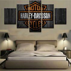 Harley Davidson 5 Piece Canvas