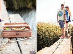 Cute! Fishing Engagement Shoot
