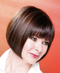 Perfection! A classic, chin-length bob with bangs.