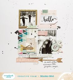 Monika Glod's Let's Do This Ideas for Scrapbook Circle. Lovely layering.