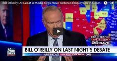 "O'Reilly was analyzing Sunday night's presidential debate between Trump and Democratic rival Hillary Clinton with Bill Hemmer on Fox News' ""America's Newsroom"" when he dropped the bombshell charge. READ FULL ARTICLE:"