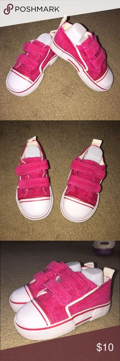 Super cute pair of size 5 sneakers These adorable sneakers are perfect for fall they have Velcro closure and I have a corduroy pattern. Pretty in pink. Only worn a few times Koala Kids Shoes Sneakers