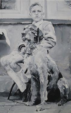 Santiago Ydañez, 'Niño y perro,' 2015, LA NEW GALLERY