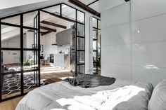 outstanding 34 Beautiful Industrial Glass Wall Home