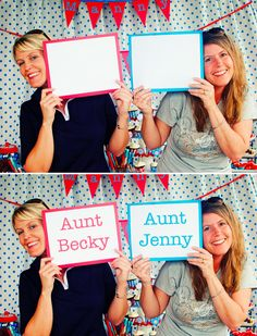 Take pictures of all the party guests holding a blank sheet of paper. Then, go in and digitally add names to the pages after the party {so for years to come the birthday child will know who was there, etc}. (From http://karaspartyideas.blogspot.com)