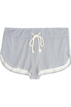 Eberjey|Cottage Stripes jersey shorts|NET-A-PORTER.COM
