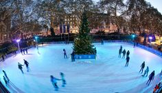 Ice Skating in London is a time-honored tradition and one of London's favorite winter pastimes that has been drawing in the crowds since the world's first artificial ice rink (known as a Glaciarium) was unveiled in Chelsea in 1876. Get your ice skates on this winter at London's coolest ice rinks!  #london #trave #iceskating