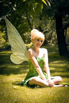 If Disney characters were real... She makes such a great Tinkerbell, and just look at those wings! What great craftsmanship!