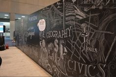 Chalkboard mural artist for hire - Office Mural Artist - Event Mural Artist - Convention Booth Artist For Hire