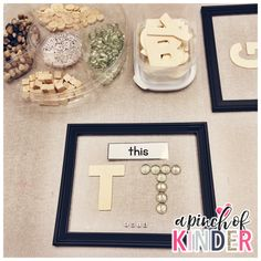 Wonderful loose parts and literacy provocation ideas from A Pinch of Kinder! - Life and hacks Emergent Curriculum, Kindergarten Writing, Kindergarten Literacy, Early Literacy, Alphabet Activities, Language Activities, Literacy Activities, Literacy Centers, Preschool Science