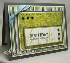 SC197 Masculine Birthday Celebrations by Kharmagirl - Cards and Paper Crafts at Splitcoaststampers