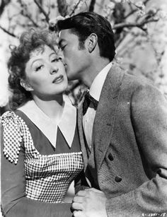 Greer Garson and Gregory Peck   in valley of decision