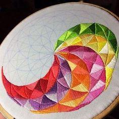 Ideas Embroidery Hoop Alternative Cross Stitch For 2019 Hand Embroidery Stitches, Embroidery Hoop Art, Hand Embroidery Designs, Embroidery Techniques, Cross Stitch Embroidery, Embroidery Patterns, Cross Stitch Patterns, Contemporary Embroidery, Modern Embroidery