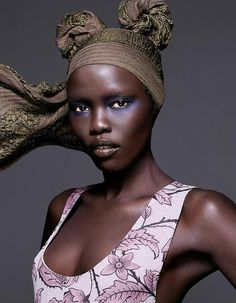 "lamusenoire: ""Make-up, Style and the Modern Mix: Grace Bol by Karina Twiss for Madame Figaro November 2014. Photos: Karina Twiss """