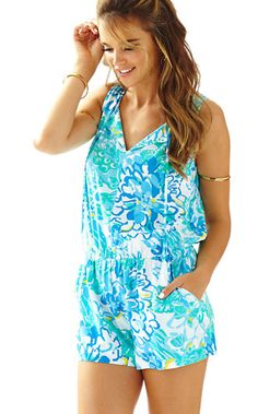 0bf4788bdf53 Lilly Pulitzer Tybee Sleeveless Romper Lilly Pultizer