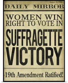 East Urban Home 'Women's Right to Vote' Textual Art Format: Affordable Canadian Walnut Medium Framed Paper