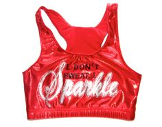 Red Metallic  I Don't Sweat I Sparkle Cheer or by Justcheerbows, $27.50