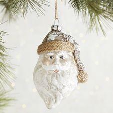 Rustic Santa Claus Face Ornament