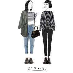 we're super by ohsweetmelancholia on Polyvore featuring мода, Comme Comme, Steven Alan, Topshop, Dr. Martens and Fendi