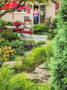 Gardens drought tolerant and front porches on pinterest - Cheap no grass backyard ideas ...