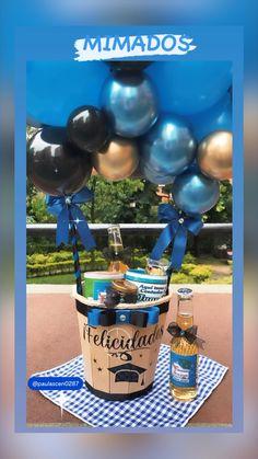 Balloon Basket, Balloon Gift, Balloon Decorations, Birthday Decorations, Love Gifts, Diy Gifts, Dad Birthday, Happy Birthday, Balloon Columns