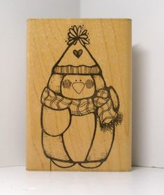 PARTY PENGUIN Rubber Stamp by PollysPlace on Etsy