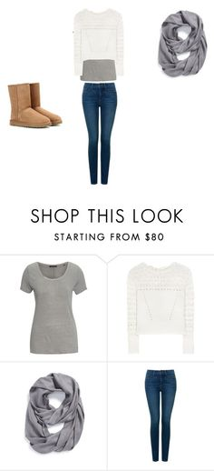 """""""girl outfit"""" by jtbae on Polyvore featuring Marc O'Polo, Oscar de la Renta, Tory Burch, NYDJ and UGG Australia"""