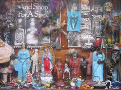 Hoodoo Magick Rootwork:  #Voodoo shop window.