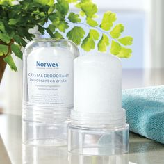 Norwex Crystal Deodorant  and Natural Deodorant Stick offer a chemical-free alternative.