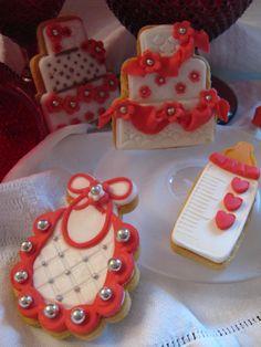 biscotti decorati per battesimo in rosso. Omar Busi