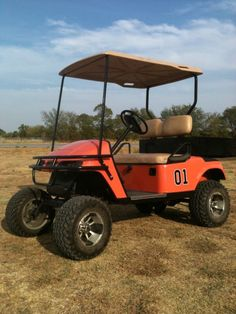 super cool custom General Lee Golf Cart from http://vicsusedcarts.com