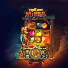 Dig for rewards in OneTouch's Fortune Miner - Return to Player Hog Games, Miner Game, Free Casino Slot Games, Game Ui Design, Game Interface, Game Title, Game Icon, Game Assets, Interface Design