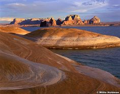 Padre Bay And Sandstone Lake Powell Southern Utah Landscape Nature