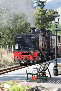 Beyer Garratt at Rhyd Ddu on Welsh Highland Railway