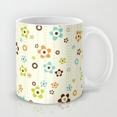Flower Shower Mug | Heather Dutton #society6