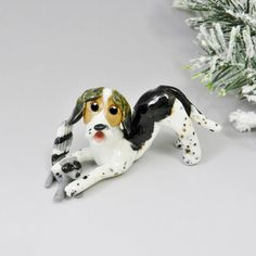 Treeing Walker Coonhound Christmas Ornament by TheMagicSleigh also available  by ordering http://www.themagicsleigh.com/treeing-walker-coonhound/