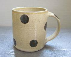 large polka dotted coffee mug