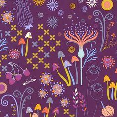 dc6189 enchanted tamara kate helen's garden plum purple spring flowers butterflies
